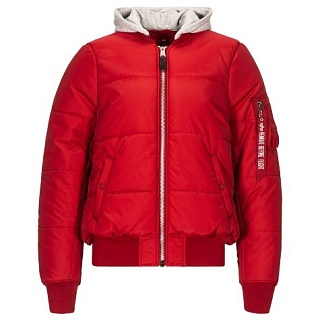 Куртка МА-1 Natus  Quilted Flight Jacket red